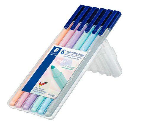 staedtler triplus color feutre box 6 pc pastel colours 323 sb6 pa
