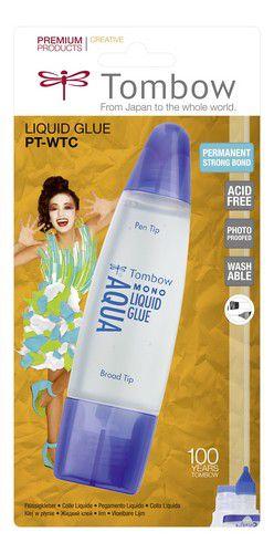 tombow liquid glue aqua 50 ml met 2 tipsblister 19ptwtc